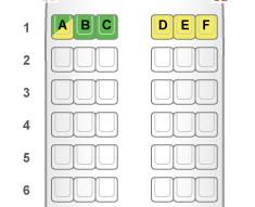 ジェットスターA320 座席表